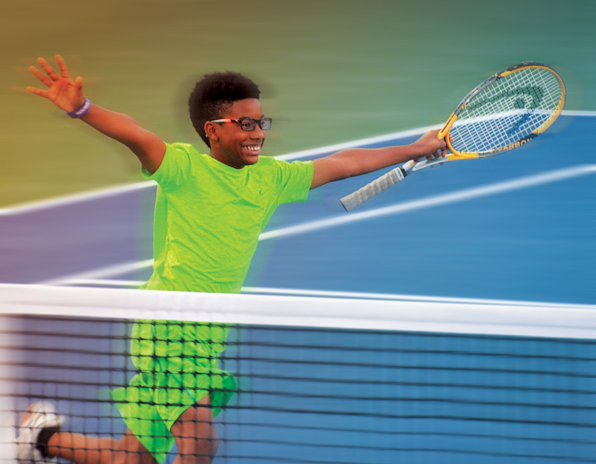 reaching out to community youth through tennis